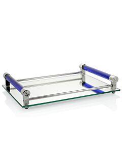 Coco Mirrored Bar Tray Blue