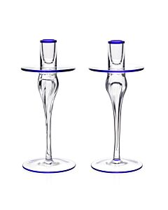 Siena Pair of Candlesticks Blue