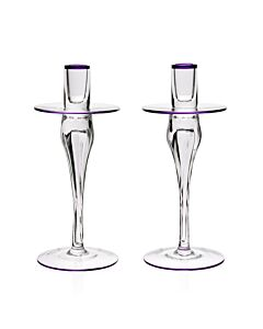 Siena Pair of Candlesticks Amethyst